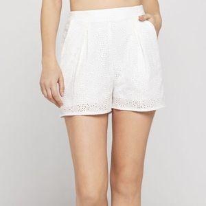 Bcbgeneration White eyelet lace shorts! NEW